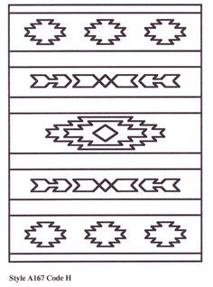 southwestern design – after my trip to az :) – Tattoo Pattern Native American Design, Native Design, Native American Patterns, Loom Beading, Beading Patterns, Motif Navajo, Navajo Pattern, Navajo Print, Navajo Rugs