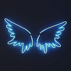 blue aesthetic A neon version of Karous angel wing art school project, in her signature blue. Wallpaper Iphone Neon, Neon Wallpaper, Blue Wallpapers, Collage Mural, Photo Wall Collage, Picture Wall, Blue Aesthetic Dark, Aesthetic Colors, Aesthetic Pictures