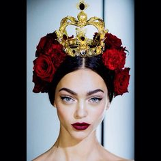 #Regram @voguemagazine #Obsessed !! #TheLook @dolcegabbana @stefanogabbana #DolceGabbana #SS15 with the #beautiful #Zhenya❤️❤️❤️❤️#makeupbypatmcgrath #Photo by @kevintachman #patmcgrath #MFW #milan #latergram #fashionweek #beauty #bts #fashion #makeup #glamour #style #backstage #red #lipstick #black #eyeliner #passion #sicilia #spain #roses ❤️❤️❤️