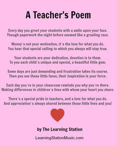 Plant Teacher Gift Idea | Poems, Teaching and Flowers