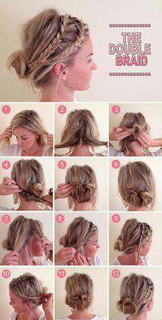 DIY Double Braid Hairstyle