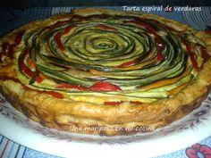 Tarta espiral de verduras