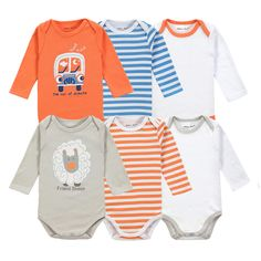 6 Pieces Brand Baby Girl Clothes Boy Long Sleeve Bodysuits New Born Clothing With Character Printed Infant Jumpsuit Overall #>=#>=#>=#>=#> Click on the pin to check out discount price, color, size, shipping, etc. Save and like it!