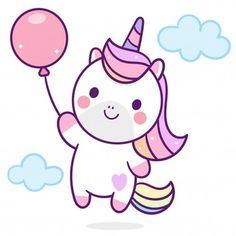 Illustrator of Cute Unicorn Vector holding balloon, baby animal, Kawaii Character pony cartoon, pastel background- Perfect for kid's greeting card design and Print for t-shirt. Cute Unicorn, Unicorn Art, Doodles Kawaii, Cute Doodles, Unicorn Painting, Unicorn Drawing, Art Drawings For Kids, Easy Drawings, Unicorn Wallpaper Cute