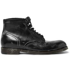 Dolce & GabbanaDistressed Leather Boots