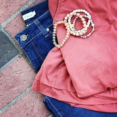 """Perfect transition colors for fall "" from Beija Flor Jeans.  Photo by beijaflorjeans // yeahthatgreenville"
