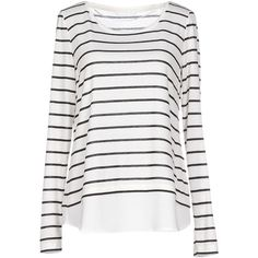 Only T-shirt (71 BRL) ❤ liked on Polyvore featuring tops, shirts, long sleeves, white, jersey top, extra long sleeve shirts, white long sleeve top, long sleeve tops and jersey shirt