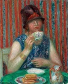 View Girl with teacup by William Glackens on artnet. Browse upcoming and past auction lots by William Glackens. William Glackens, Ashcan School, Williams James, Tea Art, Renoir, Female Images, American Artists, Impressionist, Art History