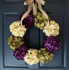 Hey, I found this really awesome Etsy listing at https://www.etsy.com/listing/185636660/hydrangea-wreath-summer-door-wreath