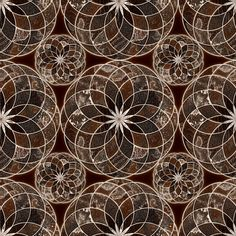 MANDALA FLOWER Small BROWN AND WHITE EARTH TONES fabric by paysmage on Spoonflower - custom fabric