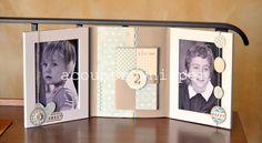 Tempo fa ho visto su Scrappando un minialbum  fatto utilizzando cornici IKEA...bella idea!!! Questa e' la mia versione, semplice, pulita...u...