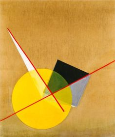 Laszlo Moholy-Nagy (1895-1946), a Hungarian painter and photographer, had his own take on the art of the Russian avant-garde, clearly taking up Malevich's Suprematism and El Lissitsky's Constuctivism...