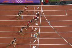 Winner ... Sally Pearson crosses the finish line.