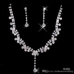 Real Pearl Bracelet Fashin Unique Wedding Bridal Bridesmaids Crystal Rhinestone Tear Drop Shaped Necklace Earrings Set Bridal Bridesmaid Prom Jewelry Set Rhinestone Brooch From Rieshaneeawedding, $4.18| Dhgate.Com