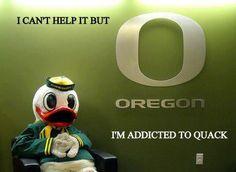 Oregon Ducks. Addicted to quack. #addict #ducks #oregon