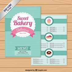The cool Sweet Bakery Menu Template Food Menu Template, Restaurant Menu Template, Menu Templates, Bakery Branding, Bakery Menu, Cute Bakery, Sweet Bakery, Food Menu Design, Bakery Business