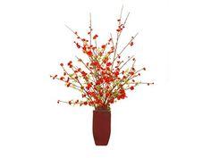 John Richard Asian Quince Floral Arrangement in Vase