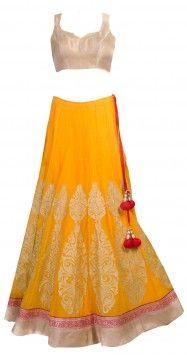 SVA yellow lehenga, great for a garba or wedding reception, indian wedding clothes