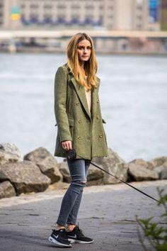 Olivia Palermo in jeans walking her dog in Brooklyn - April 25 34700265da3