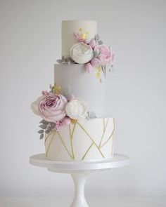 Pastel Wedding Cake, Peony Wedding Cake Best Picture For wedding cakes spring square For Your Taste You are looking for something, and it is going to tell you exactly what you are looking for, and you Pastel Wedding Cakes, Beautiful Wedding Cakes, Beautiful Cakes, Pastel Weddings, 3 Teir Wedding Cake, Spring Wedding Cakes, Wedding Flowers, Pastel Cakes, Wedding Rings