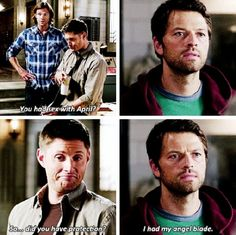 Oh Cas (and p.s. Dean's face lol)
