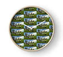 Golf Dimensional Text And Design Clock
