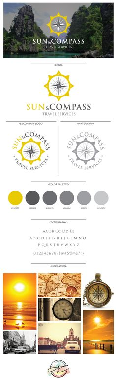 Sun and Compass travel agency Logo and Branding Design