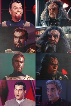 """science-officer-spock: """" TOS Klingons on koloth (the trouble with tribbles + blood oath) kor (errand of mercy + blood oath) kang (day of the dove + blood oath) arne darvin (the trouble with. Klingon Empire, Star Trek Klingon, Star Trek Starships, Star Trek Enterprise, Star Trek Show, Star Trek Tv, Star Wars, Deep Space Nine, Aliens"""