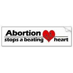Abortion Stops A Beating Heart License Plate PRO LIFE CHOOSE LIFE Anti-Abortion!