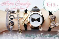 AANBIEDING: Arm candy horloge en armbandjes set