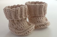 pattern | crocheted baby booties from bernat (you need to sign up for a free account)