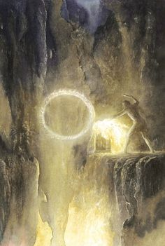 The Forging of the Ring; art by Alan Lee