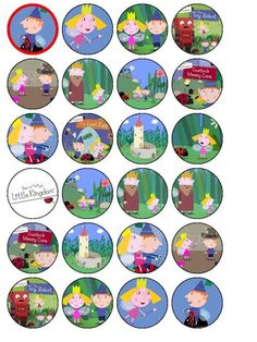 24 Ben & Holly's Little Kingdom Edible Wafer Paper Cup Cake Toppers Birthday - Discount-everything Ben And Holly Party Ideas, Ben And Holly Cake, Ben E Holly, Fourth Birthday, 3rd Birthday Parties, Birthday Bash, Birthday Ideas, Baby Birthday Cakes, Birthday Cake Toppers