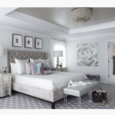 """Home Decor Inspiration on Instagram: """"Glam bedroom by @susanglickinteriors"""""""