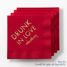 Drunk In Love Cocktail Napkins Set of 50 by PicturePerfectPapier