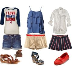 A fashion look from February 2012 featuring raglan baseball tee, madewell shirts and stretch shirt. Browse and shop related looks. Games Outfits, Sport Outfits, Cute Outfits, Baseball Stuff, Baseball Mom, Baseball Outfits, Braves Game, Tennessee Girls, Night Looks