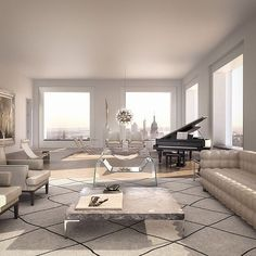 Swipe Left! A sneak peak of @432parkavenue, rising 1,396 ft above New York City! Designed by @rva_ny, this $95,000,000 penthouse has it all! Comment your favorite part of this spacious penthouse!. Taken by luxury_listings on Thursday 04. January 2018 #luxurypenthouse