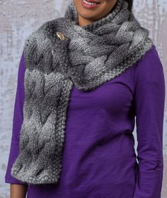 Woven Cable Scarf -