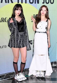 Seola and Bona Cosmic Girls, Kpop Outfits, Ulzzang, Peplum Dress, Fashion Show, Celebrities, Collection, Dresses, Album