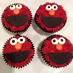Elmo cupcakes!!
