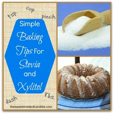 Simple Baking Tips When Using Stevia and Xylitol Our baking boot camp taught us quite a few things a Sugar Free Desserts, Sugar Free Recipes, Low Carb Desserts, Sweet Recipes, Easy Recipes, Stevia Recipes, Low Carb Recipes, Banting Recipes, Vegetarian Recipes