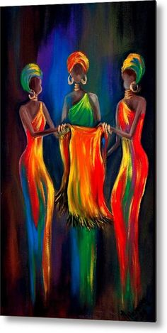 The Scarf The Scarf,Figuratif Afrika, peinture africaine multicolore African American Art, African Women, South African Art, African Beauty, Art Amour, Images D'art, Afrique Art, African Art Paintings, African Artwork