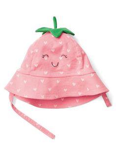Strawberry bucket hat