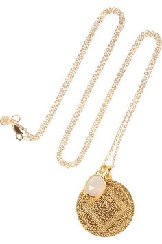 Monica Vinader | Marie & Siren gold-plated sterling silver moonstone necklace