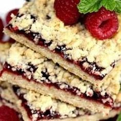 Delicious Raspberry Oatmeal Cookie Bars Recipe on Yummly
