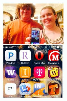 WOW! What a surprise! I must say that this is the coolest way I've seen anyone ask someone to Prom! I'm one lucky girl He is so creative to have put apps on my phone (surprising me when I eventually found them on my phone) that spelled out 'Prom With Clint'! I love it I can't wait to go to my last Prom with the best date ever!;p I love you Clint:)) #prom #promideas #love #promposal