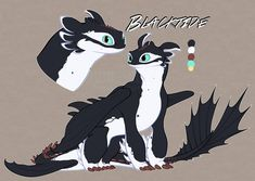 Blacktide by Takamatsu-kun on DeviantArt Httyd Dragons, Cute Dragons, Mythical Creatures Art, Fantasy Creatures, Night Fury Dragon, Wings Of Fire Dragons, Dragon Sketch, Dragon Artwork, Dragon Pictures