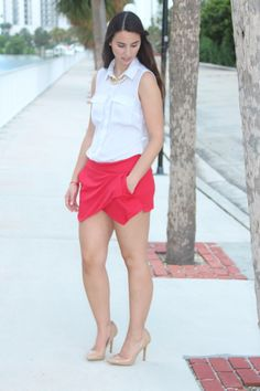 New Post on http://www.bisousbrittany.com/red-hot/! #Fashion #style #skort #miami #ootd