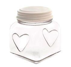 Storage Jar with Heart Cream