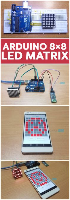 In this project, we will learn about LED Matrix Displays and two different projects on Arduino 8×8 LED Matrix Interface. The first project will be a simple interface between Arduino and 8X8 LED Matrix to display information (even scrolling information and images can be displayed) and the second project will be an advanced project where the 8×8 LED Matrix is controlled through an Android device